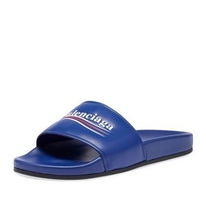 Balenciaga Logo Slide Sandals